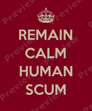 Doctor Who Remain Calm Human Scum T-Shirt
